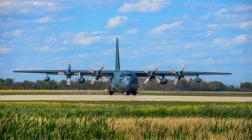 A CC-130J Hercules at the Grande Prairie Airport, courtesy William Vavrek Photography