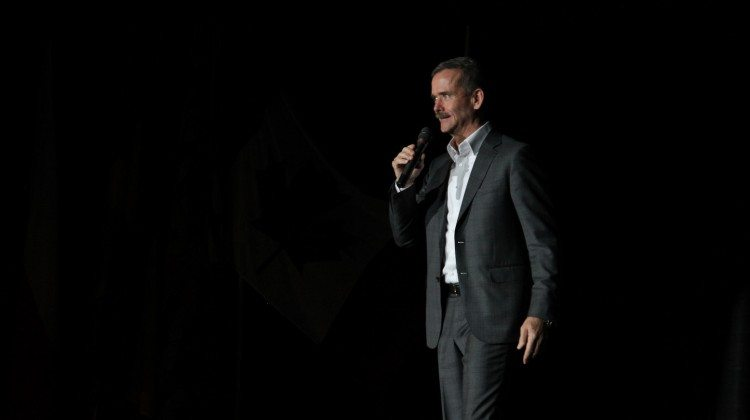 Chris Hadfield at the Encana Events Centre, Dawson Creek on October 2, 2015