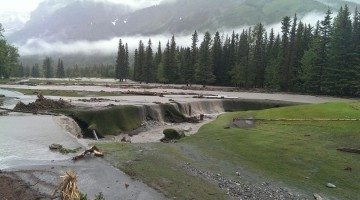 Damage to Kananaskis Golf Course by the 2013 flooding