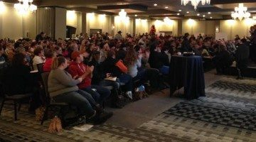 Nearly 400 farmers packed a town hall about Bill 6 Thursday in Grande Prairie.