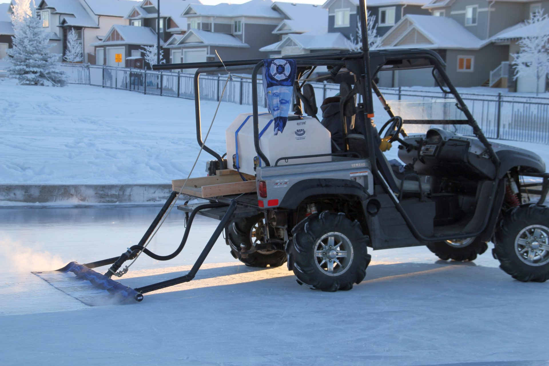Homemade Zamboni takes Whispering Ridge rink to next level - My ...