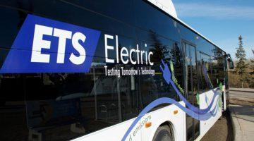 An Edmonton Transit System electric bus, City of Edmonton