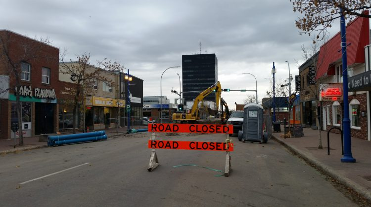 100th avenue road work construction downtown rehab