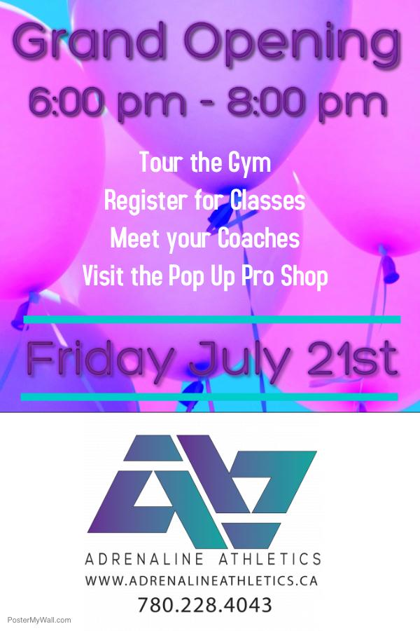 Grand Opening - Adrenaline Athletics Cheerleading Gym - My