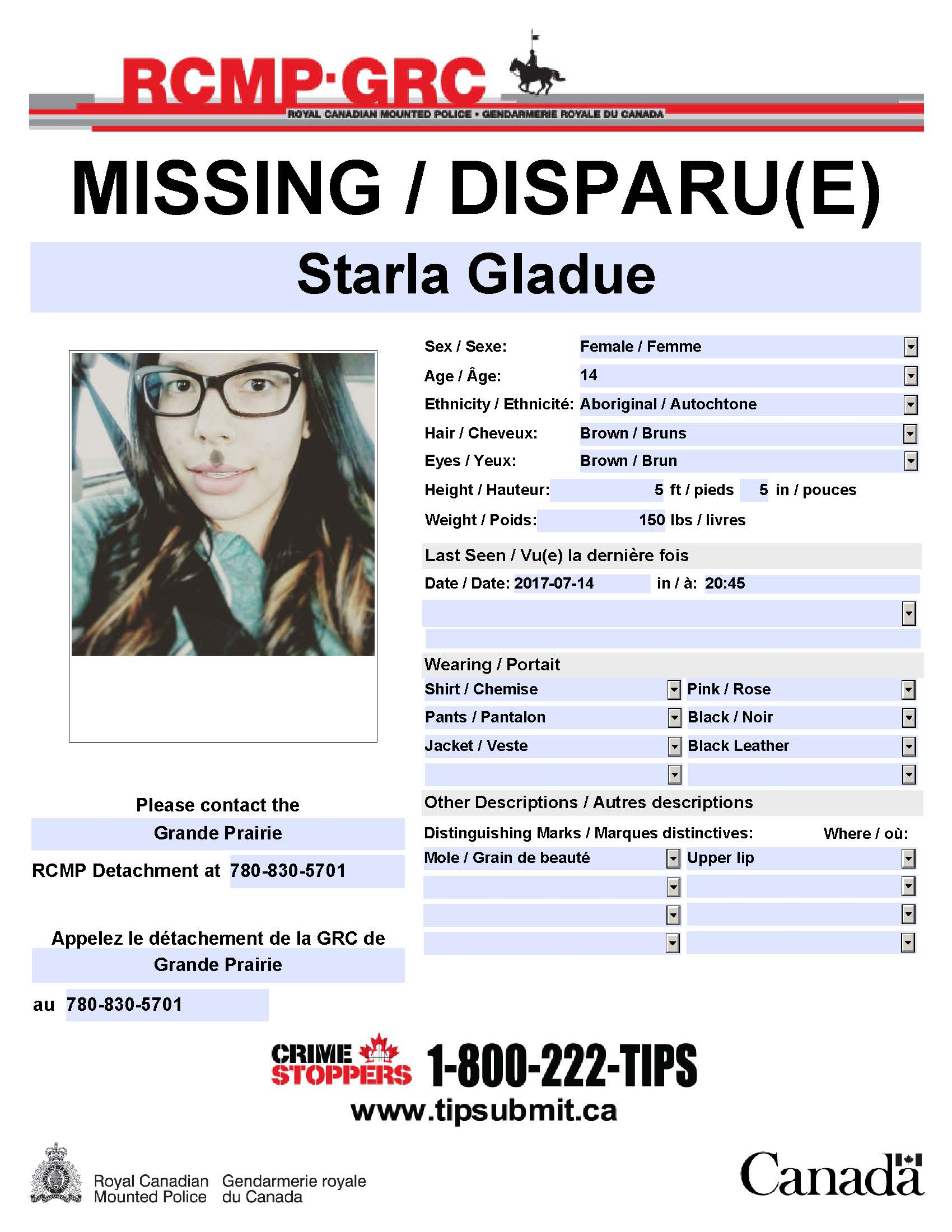 UPDATE: Missing 14 Year Old Girl Found Safe
