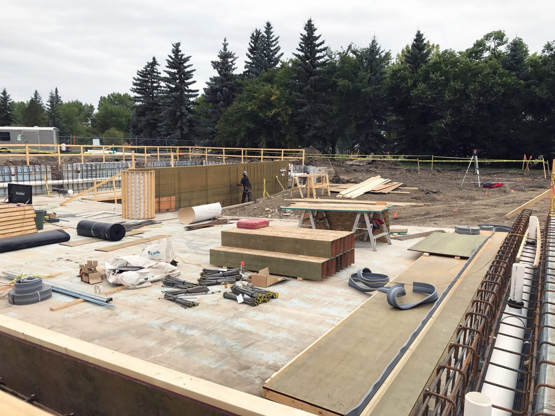 Bear Creek Pool Construction Site Expanding My Grande