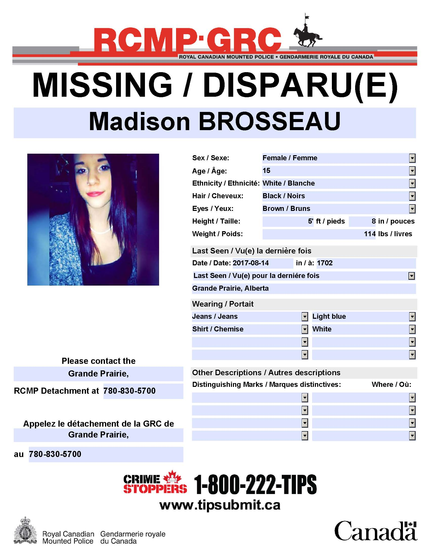 Missing 15 Year Old Girl Found: UPDATE: Missing 15 Year Old Girl Located