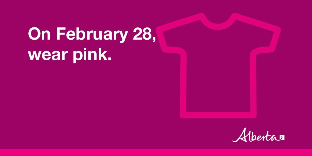 Pink shirt day February 28