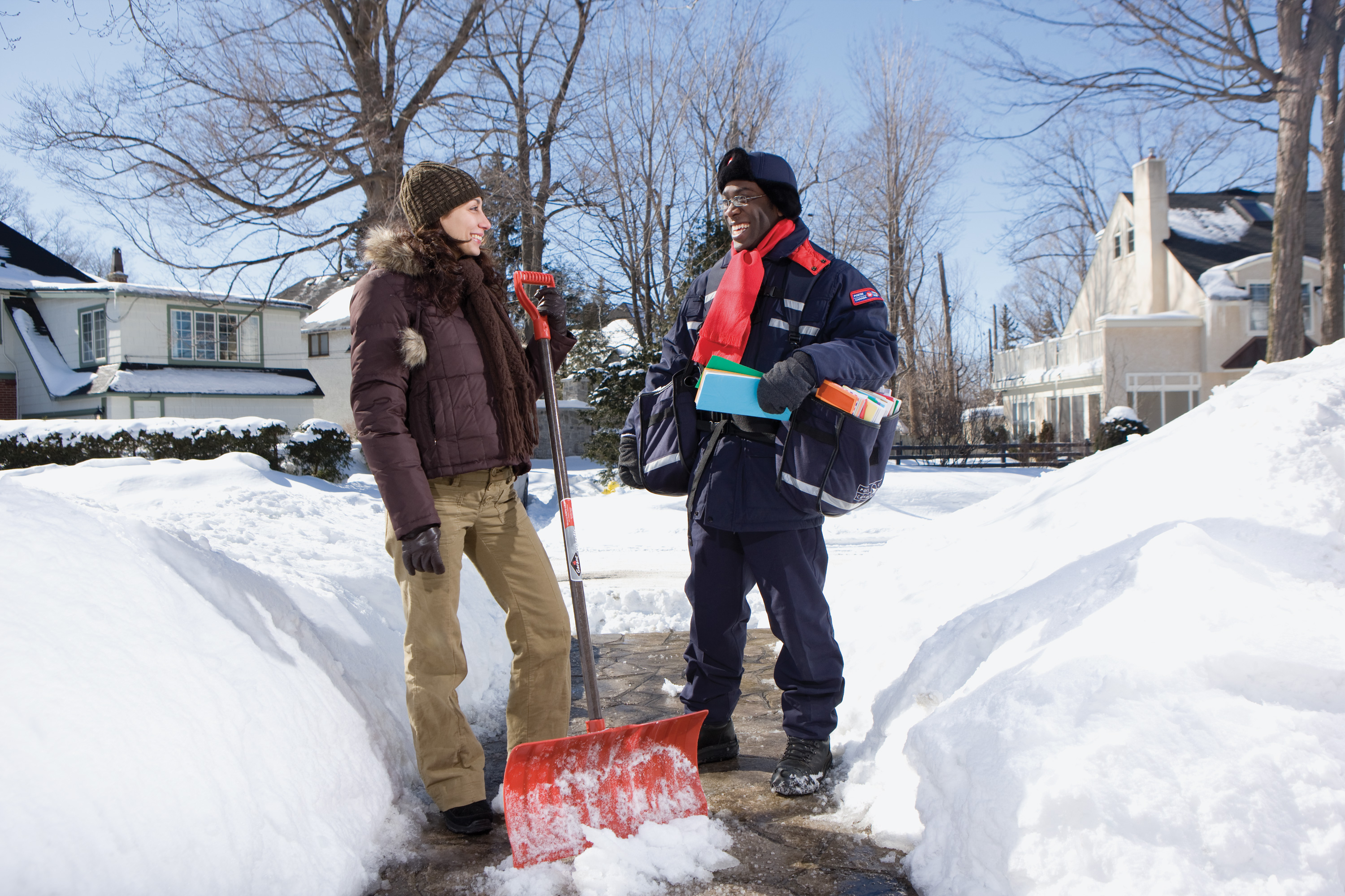 Canada Post reminding people to clear a path after slip