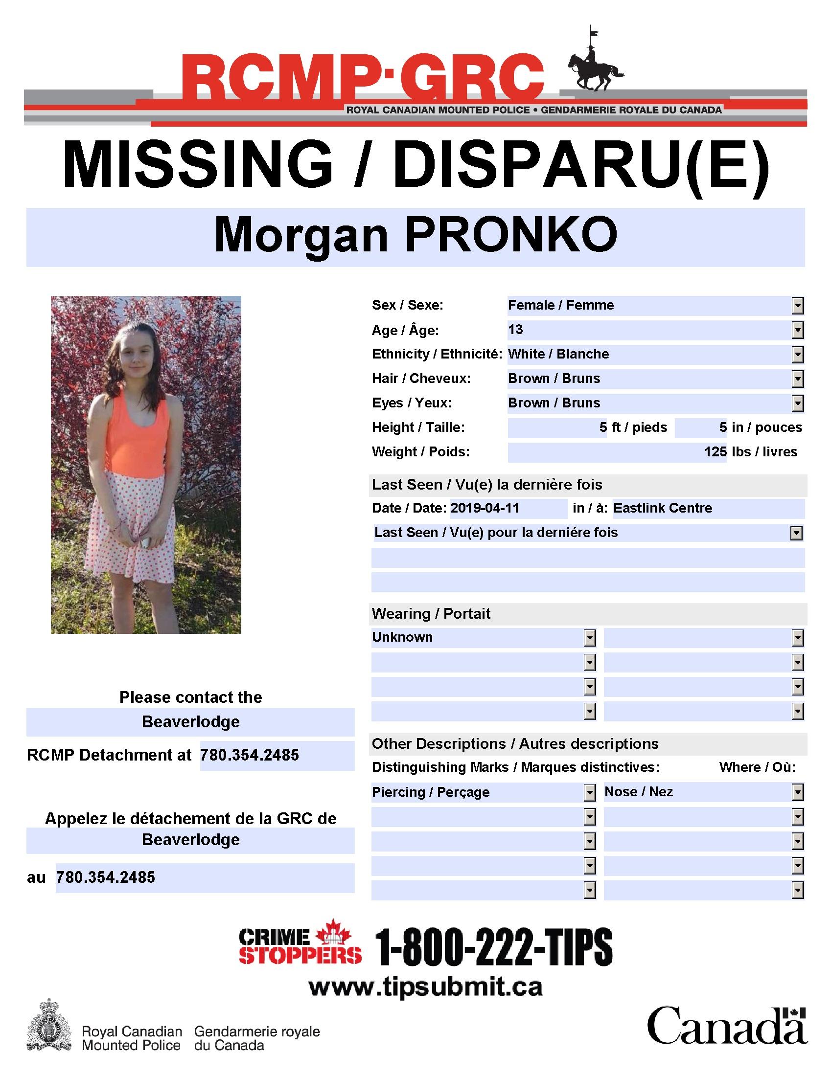UPDATE: Missing 13-year-old girl found safe - My Grande Prairie Now