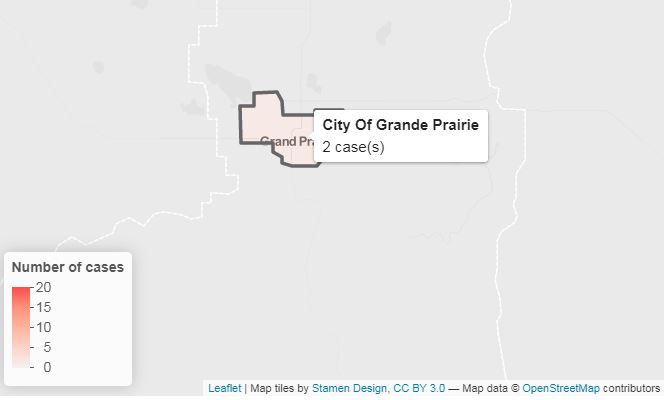 First two COVID-19 cases confirmed for Grande Prairie