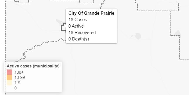 All Grande Prairie COVID-19 cases considered recovered